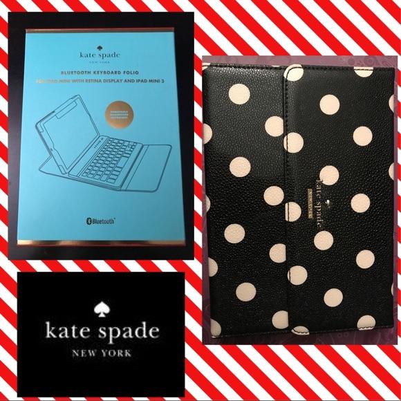 new arrival 99709 8509a Kate Spade iPad Mini Keyboard Case NWT